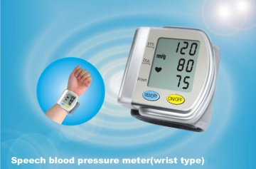 Wrist full-automatic speech blood pressure meter